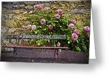 Stop And Smell The Roses Greeting Card by Debra and Dave Vanderlaan