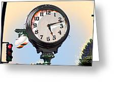 Stopping Time Greeting Card by MaryJane Armstrong