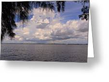 Storm Across The River Greeting Card by Rosalie Scanlon