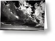 Storm Cloud Over The Harbor Greeting Card by Raymond Uzanas