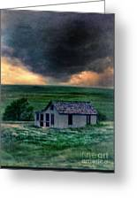 Storm Over Abandoned House Greeting Card by Jill Battaglia