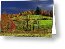 Stormy Autumn Morning Greeting Card by Thomas R Fletcher