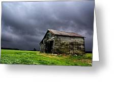 Stormy Barn Greeting Card by Cale Best
