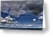 Stormy Clouds ... Greeting Card by Juergen Weiss