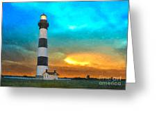 Stormy Sunrise Wc Greeting Card by Dan Carmichael