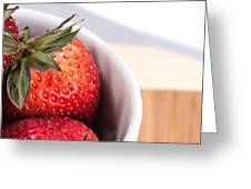 Strawberries Greeting Card by Jack Scicluna