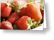 Strawberries Greeting Card by Kim Fearheiley
