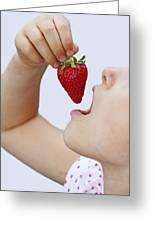 Strawberry Greeting Card by Joana Kruse