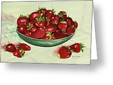 Strawberry Memories Greeting Card by Mary Ann King
