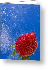 Strawberry Soda Dunk 4 Greeting Card by John Brueske