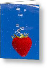 Strawberry Soda Dunk 6 Greeting Card by John Brueske