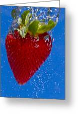 Strawberry Soda Dunk 7 Greeting Card by John Brueske