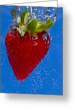 Strawberry Soda Dunk 7 Greeting Card by John Brueske