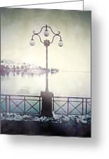 Street Lamp Greeting Card by Joana Kruse