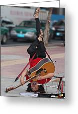 Street Musician Guangzhou China Greeting Card by Joy Neasley