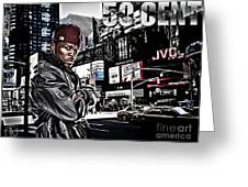 Street Phenomenon 50 Cent Greeting Card by The DigArtisT