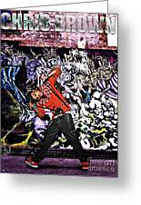Street Phenomenon Chris Brown Greeting Card by The DigArtisT