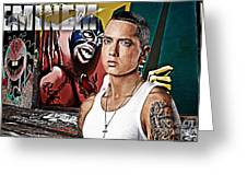 Street Phenomenon Eminem Greeting Card by The DigArtisT