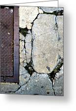Streets Of New York Abstract Two Greeting Card by Marlene Burns