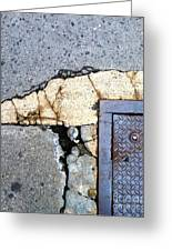 Streets Of Nyc Abstract One Greeting Card by Marlene Burns