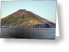 Stromboli Volcano, Aeolian Islands Greeting Card by Richard Roscoe