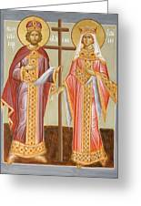 Sts Constantine And Helen Greeting Card by Julia Bridget Hayes