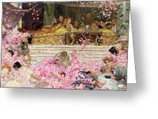 Study For The Roses Of Heliogabulus Greeting Card by Sir Lawrence Alma-Tadema