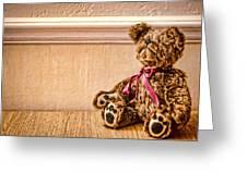 Stuffed Friend Greeting Card by Heather Applegate