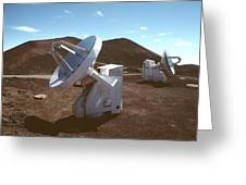 Submillimetre Array Telescopes Greeting Card by Magrath Photography