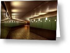 Subway Path Greeting Card by Svetlana Sewell