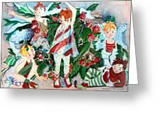 Sugar Plum Fairies Greeting Card by Mindy Newman