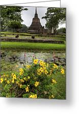 Sukhothai Historical Park Greeting Card by Adrian Evans
