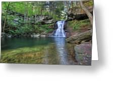 Sullivan Falls Greeting Card by Lori Deiter