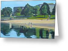 Summer At Castle Island Greeting Card by Deb Putnam