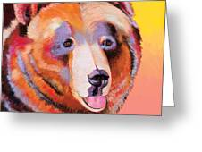 Summer Bear Greeting Card by Bob Coonts