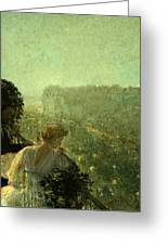 Summer Evening In Paris Greeting Card by Childe Hassam