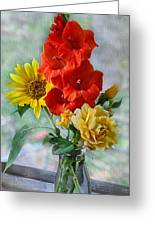 Summer Floral Greeting Card by Debbie Portwood