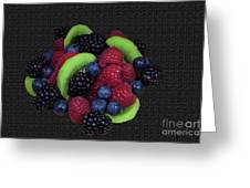 Summer Fruit Medley Greeting Card by Michael Waters