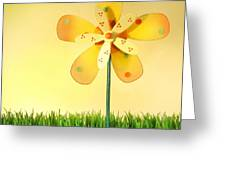 Summer fun in the grass Greeting Card by Sandra Cunningham