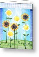 Summer Love Daisies Greeting Card by Renee Womack