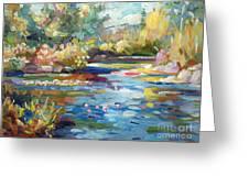 Summer Pond Greeting Card by David Lloyd Glover