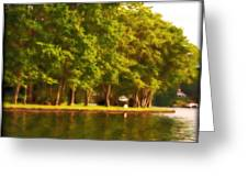 Summer Trees Lake Hopatcong Greeting Card by Maggie Vlazny