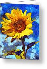 Sun Flower Greeting Card by Yury Malkov