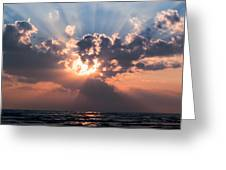 Sun Rays Greeting Card by Peter Chilelli