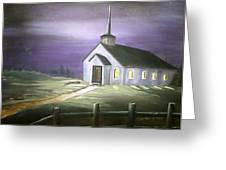 Sun Rise Service Greeting Card by Evelyn Bloomer