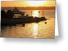 Sun Rising Greeting Card by Suzanne Gaff