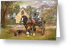 Sunday Driver Greeting Card by Trudi Simmonds