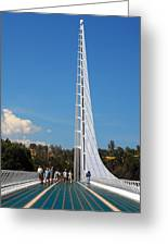Sundial Bridge - This Bridge Is A Glass-and-steel Sculpture Greeting Card by Christine Till