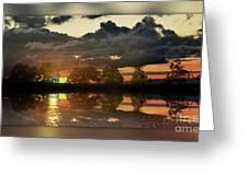 Sundown In The Lake Greeting Card by Bruno Santoro
