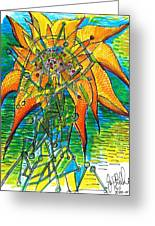 Sunflower Construction Greeting Card by Jon Baldwin  Art